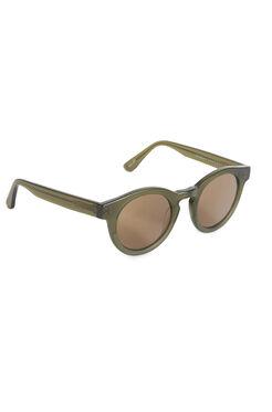 Sunday Somewhere Soelae Semi Round Khaki Sunglasses
