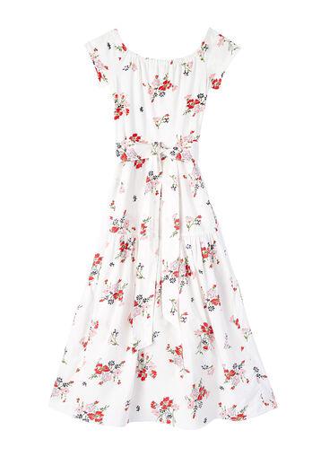 Off-The-Shoulder Marguerite Floral Jersey Dress