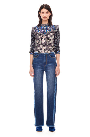 La Vie Raw Edge Jean - Cobalt Wash