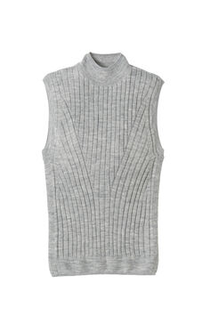 Sleeveless Ribbed Pullover