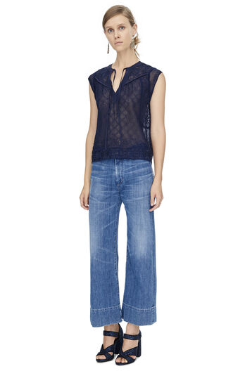 Sleeveless Ada Embroidered Top