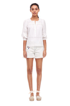 La Vie Eyelet Top - Milk