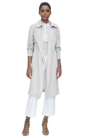Gauze Trench Coat