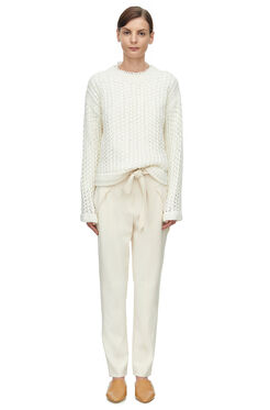 Belted Suit Pant - Cream