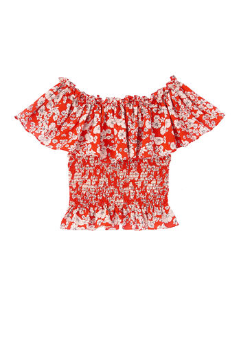 Off-The-Shoulder Cherry Blossom Top
