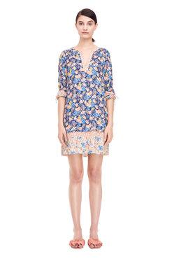 Gigi Floral Dress - Navy Combo