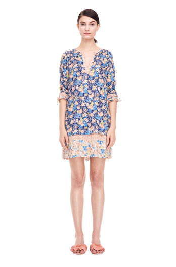 Gigi Floral Dress - Navy Combo