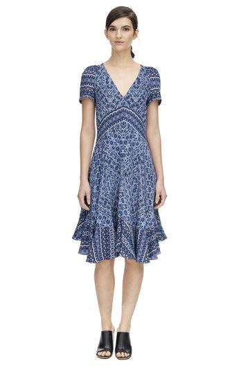 Short Sleeve Tangier Paisley Dress