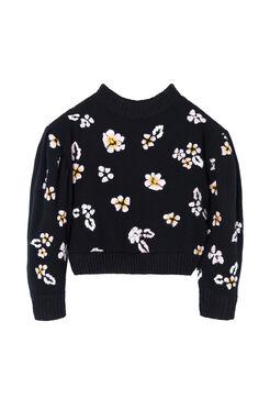 Brushed Floral Pullover