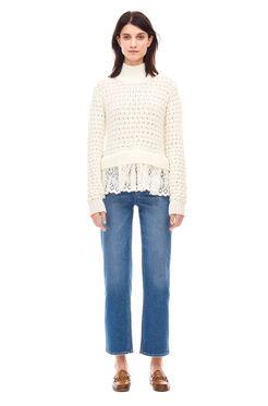 Popcorn Stitch Pullover - Chalk