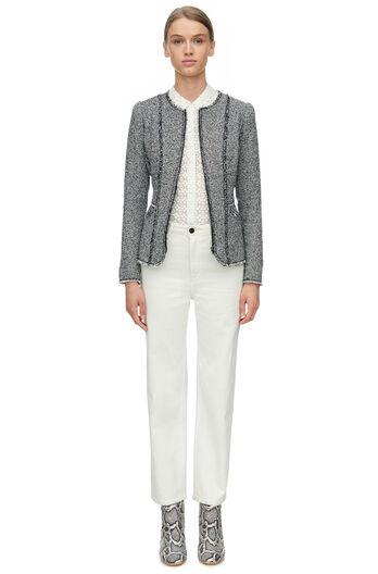 Stretch Tweed Jacket - Black Combo