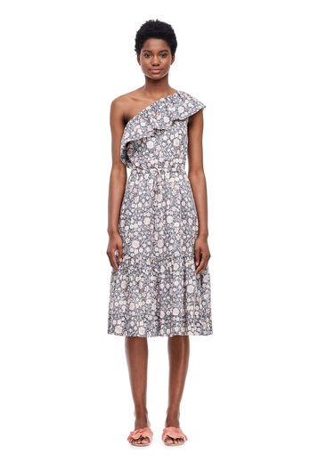 La Vie Asymmetric Zinnia Dress - Washed Black