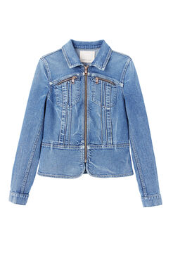 Denim Pintuck Jacket