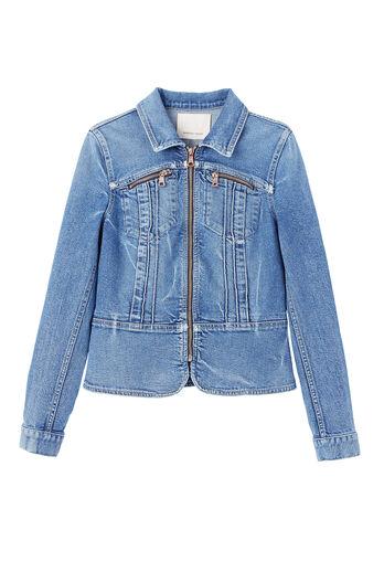 Denim Pintuck Jacket