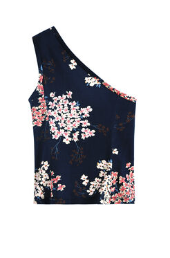 Asymmetric Phlox Floral Top