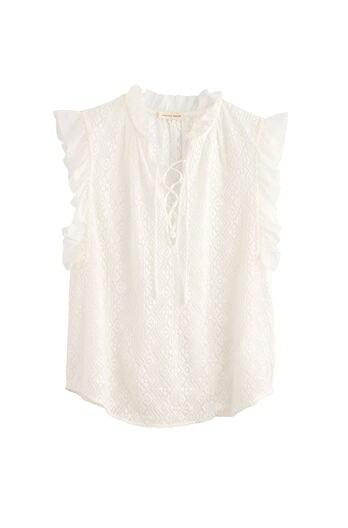 Sleeveless Florence Embroidered Top