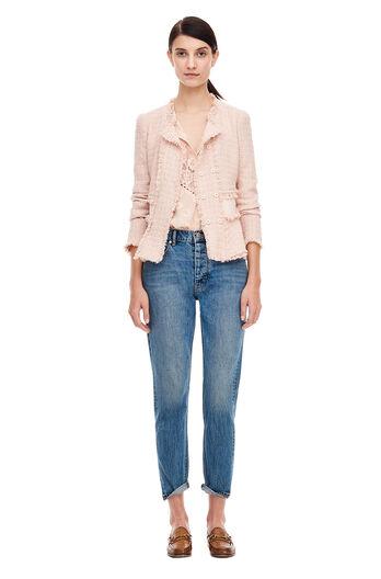 Tweed Rib Jacket - Ballerina Pink