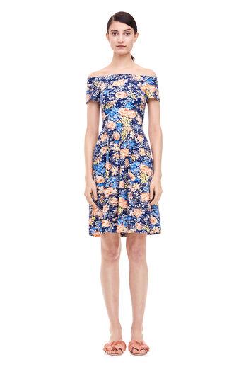 Gigi Jersey Dress - Navy Combo