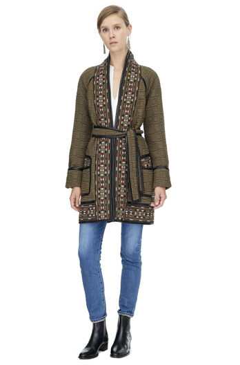 Picktstitch Cotton Embroidered Coat