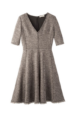 Stretch Boucle Tweed Dress