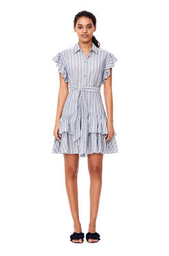 Yarn-Dyed Striped Dress - Blue/Milk
