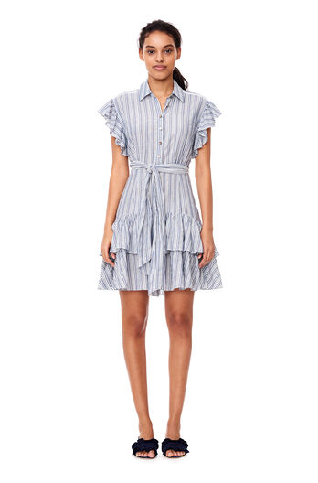 Yarn-Dyed Striped Dress - Blue/Milk