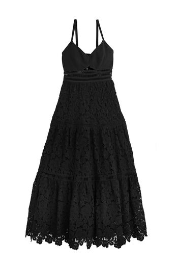 Piqué Lace Dress