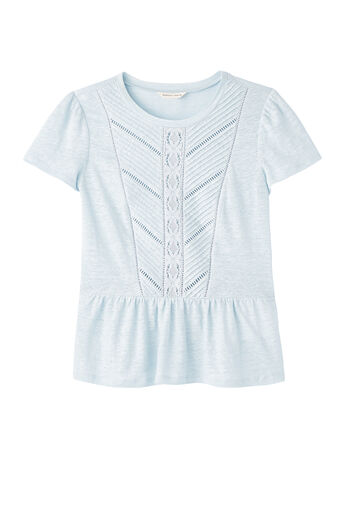 Linen & Lace Jersey Tee