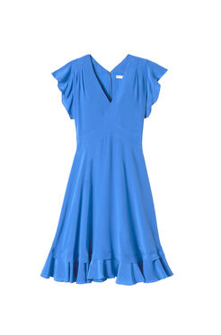 Sleeveless V-Neck Silk Dress