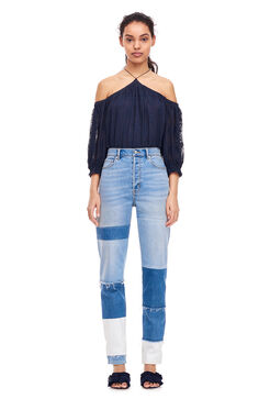 Open Shoulder Selina Top - Indigo