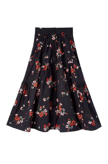 Marguerite Floral Poplin Skirt
