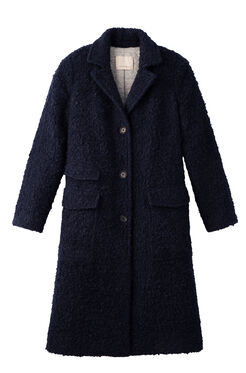 Textured Boucle Coat