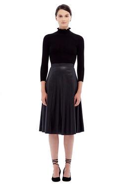 Merino Wool Turtleneck Pullover - Black