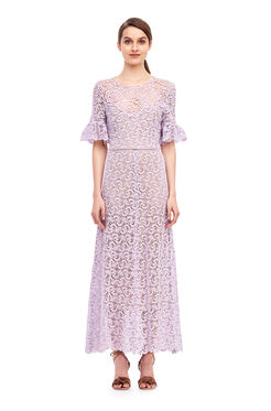 Lace Midi Dress - Lavender