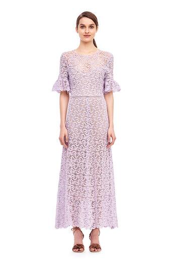 Lace Midi Dress - Lavender