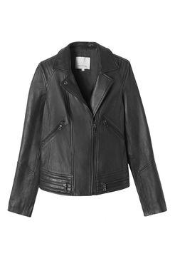 Garment Washed Leather Jacket