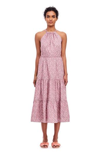 La Vie Meadow Floral Dress - Rose Claire