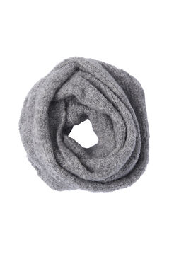 Cozy Bouclé Scarf - Grey Heather
