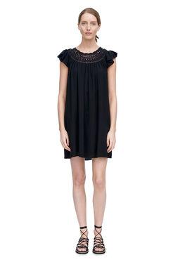 Textured Gauze Dress - Black