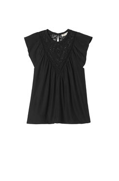 Sleeveless Geo Embroidered Top