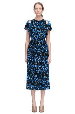 Open Shoulder Kyoto Floral Dress - Black