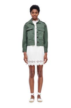 La Vie Luxe Twill Jacket - Zinc