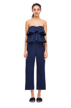 Cotton Sateen Pant - Navy