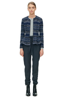 Lurex Tweed Jacket - Navy Combo