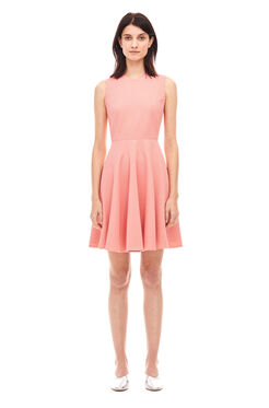 Stretch Textured Dress - Pink Grapefruit