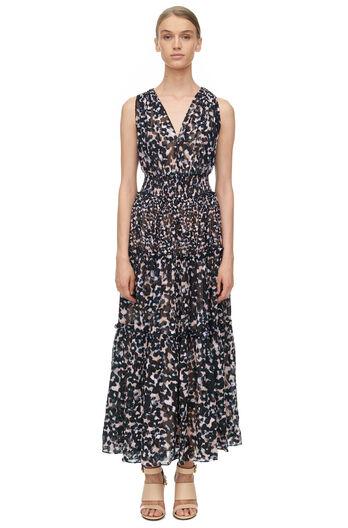 Sleeveless Oleander Clip Dress