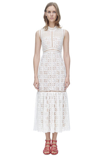 Sleeveless Crochet Lace Dress