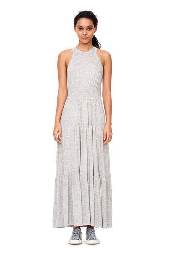 Jersey Midi Dress - Grey Melange