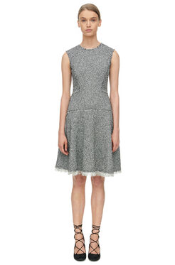 Stretch Tweed Dress - Black Combo