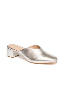 Loeffler Randall Lulu Metallic Mule - Silver